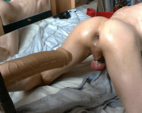 crossdress strapon anal