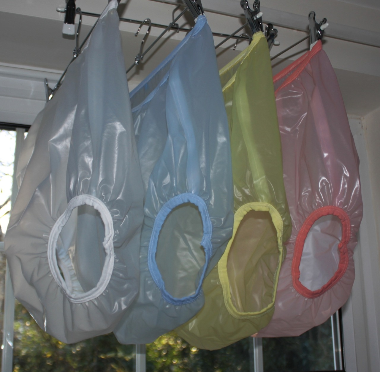 vinyl plastic pants