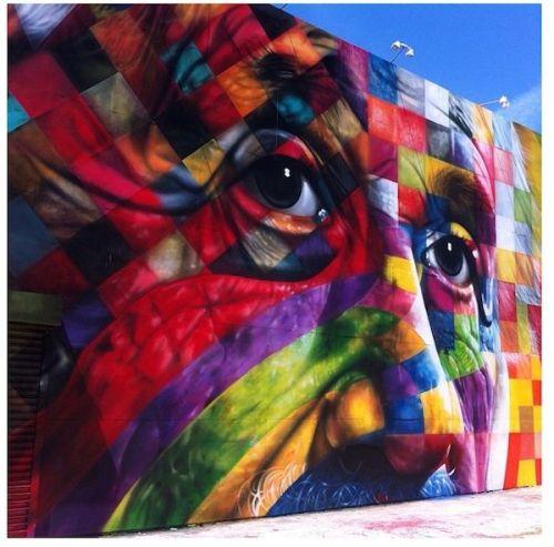 humanslikeme:  Another awesome work by Brazilian street artist Eduardo Kobra