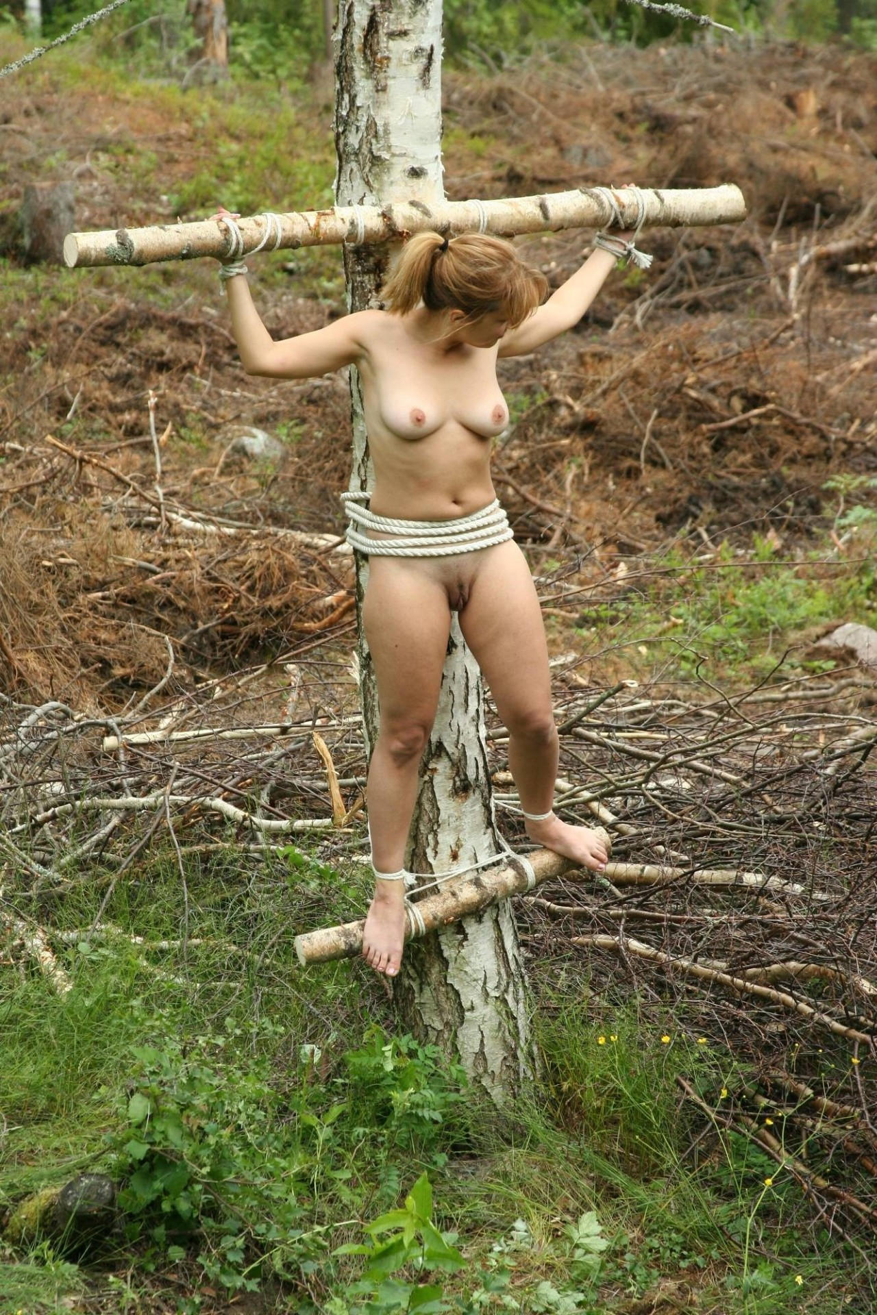 Something Women bound to a tree good