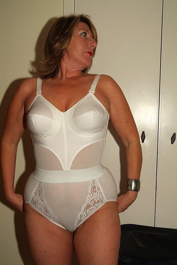 mature women wearing girdles