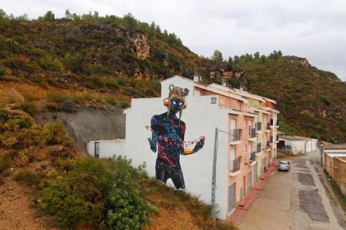 zeds:  Deih mural in Fanzara, Spain