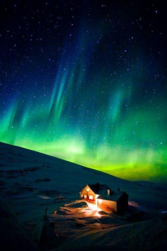 Theaurora borealis, northern Sweden.
