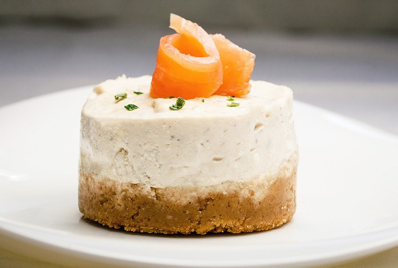 Paleo Smoked Salmon Cheesecake