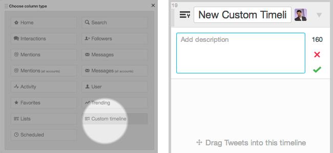 Primero crea una columna de timeline personalizado