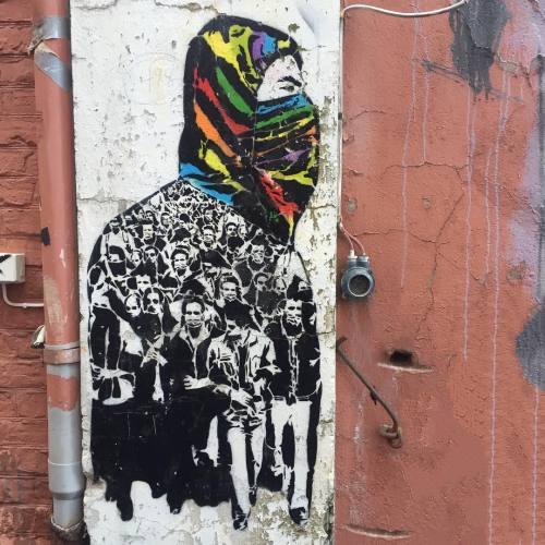 "impermanent-art:  ""People's Power"" by @icyandsot. ______________________________________#icyandsot #peoplespower #nuartfestival #stencil #stencilart #art #publicart #streetart #streetartstavanger #streetartnorway #stavanger #norway #impermanentart #ontour (at Tou Scene)"