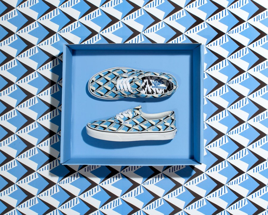 This summer's hottest collaboration sees Vans team up with the British design house Eley Kishimoto. Strikingly bold prints overhaul everything from snow boats to reversible bucket hats. To celebrate the collection, Vans will host 'Print the House' events around the world and the first event kicks off Saturday, July 11 at House of Vans London.