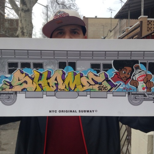brimtatscru:  Up in the Bronx ..With SHANE125 ….Hand painted subway canvas collection..