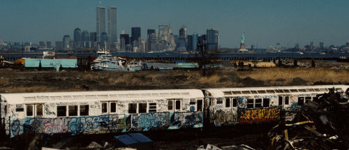 bazookajodeci:  oldnewyork:  nycnostalgia:  Trains.OP tagged #1980sSent blockbuster under all that garbage. Few sash tags creepin too.