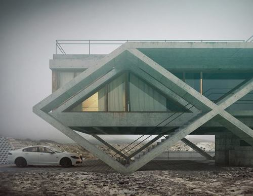 rulingthumb:  Architectural renderings by Adam Spychałahttp://plastolux.com/architectural-renderings-by-adam-spychala.html