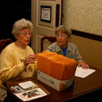 Lorraine Ziebart and Grace Gilmer (Sister-in-Law registering guests)