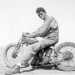 Hank Englehardt on Motorcycle