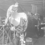 P-61 Radar being repaird by Frank Bolinski