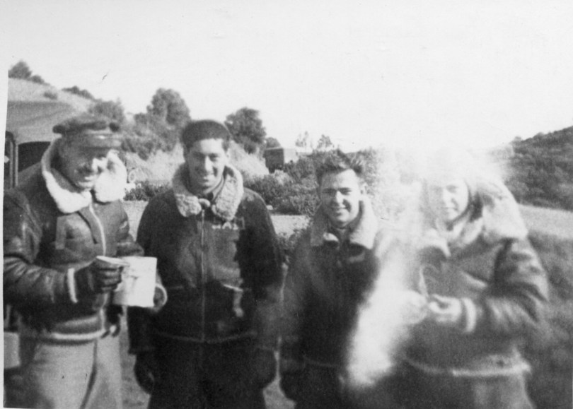 Lt Bob Swift, Sgt Sam Resnik, Ckpl Jack Orian, Lt Chick Hooton