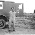 Albert Bettencourt in front of a Red Cross Truck in July of 1942.  Charlotte, NC.