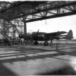 "First P-61 delivered to 417th NFS ""Rhoddia at St. Dizier, France in March 1945"