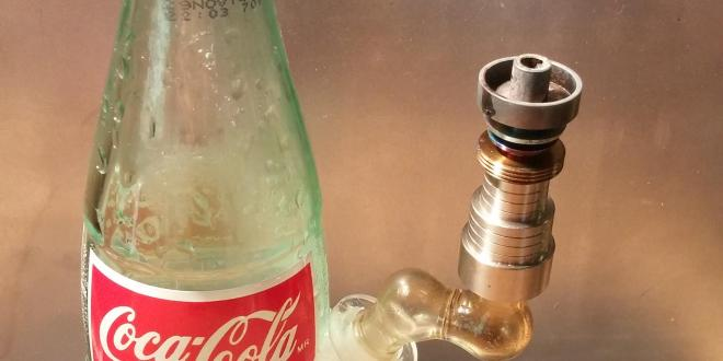 Coke bottle dab rig