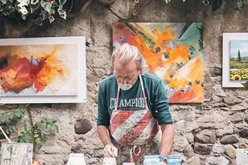 werken tussen de kunst cafe