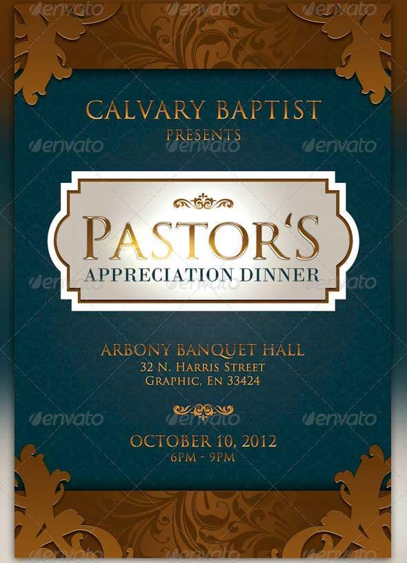 Pastor Appreciation Flyer Templates Four C Graphic
