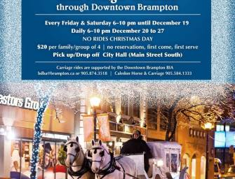 You Can Ride a Carriage through Downtown Brampton from Dec. 18 – 27