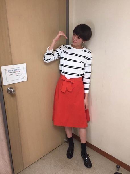 人気急上昇モデル!佐藤栞里ちゃんのファッションに注目♪その11