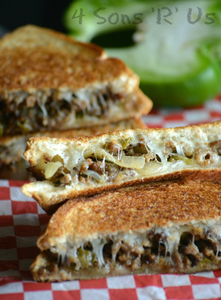 Ground Beef Philly Cheesesteak Grilled Cheese 3