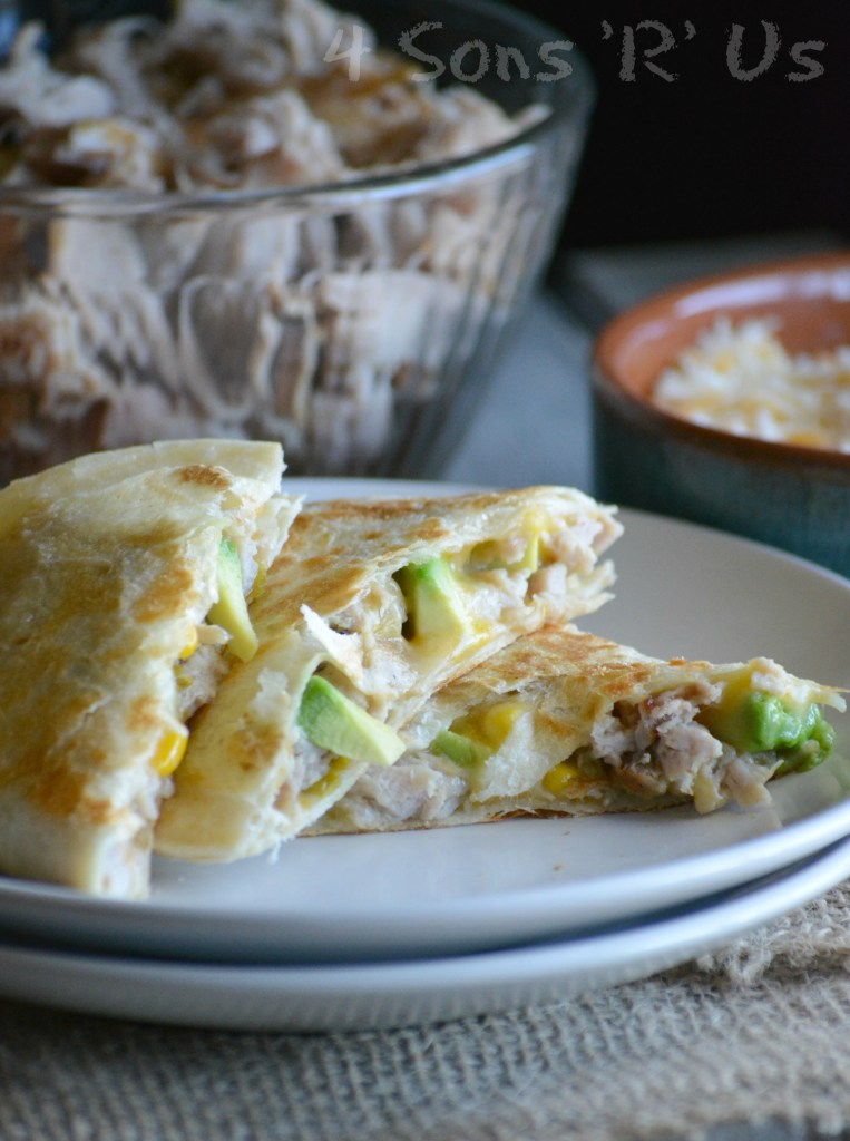 sweet-smoky-pork-quesadillas-with-spicy-ranch-dressing