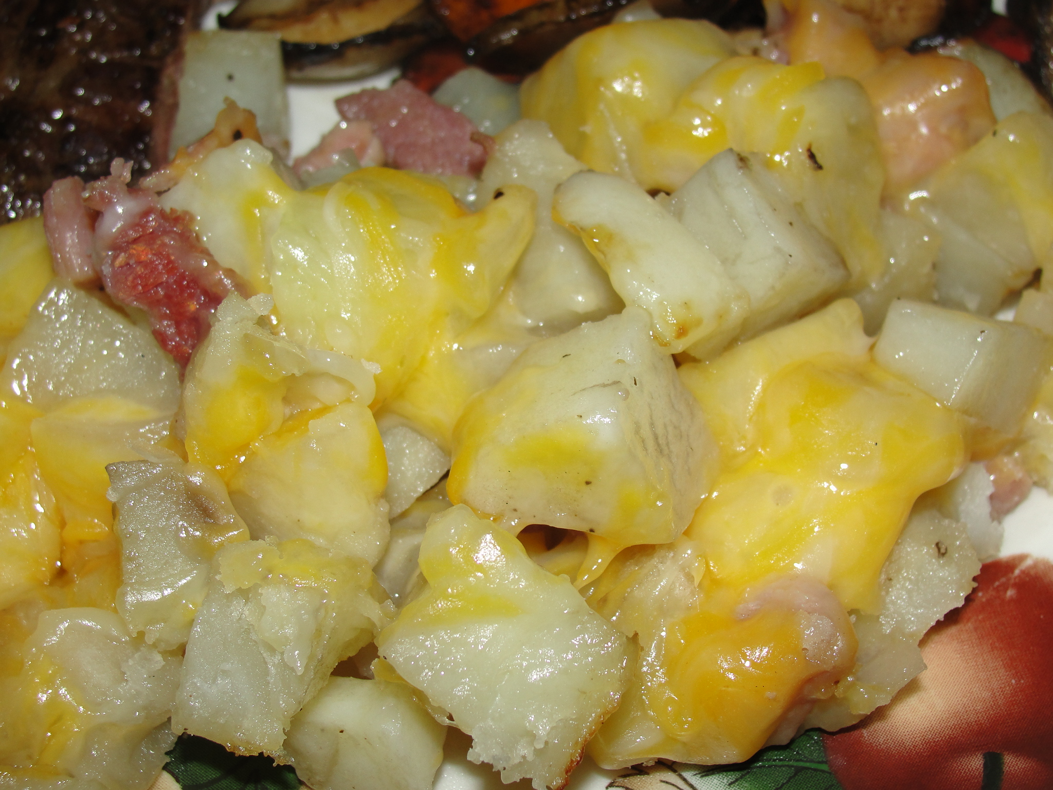 Grilled Three-Cheese Potatoes - 4 Sons 'R' Us
