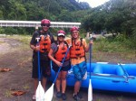 Just before we got in the water on our little rafting trip in northern Panama