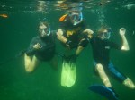 A family that snorkels together...