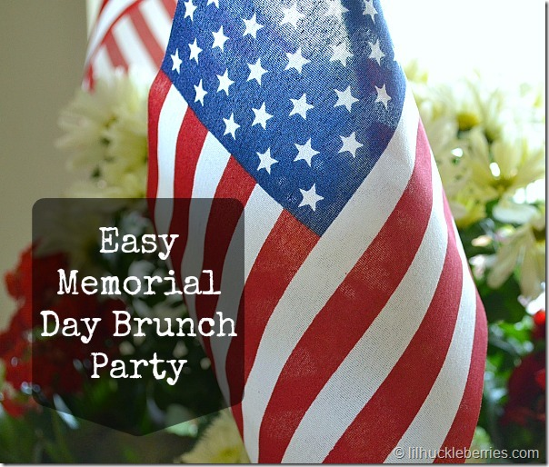 Memorial Day brunch party
