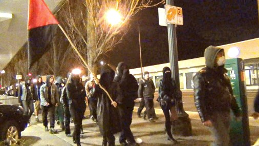 Anarchists take to the streets