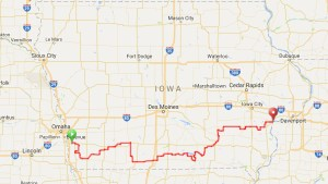 IOWA ROUTE MAP