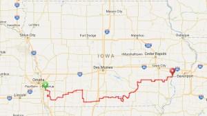 IOWA ROUTE MAP