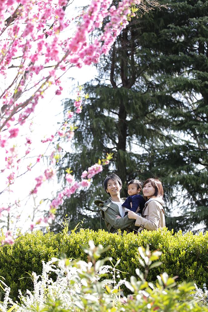 家族写真国立市の公園