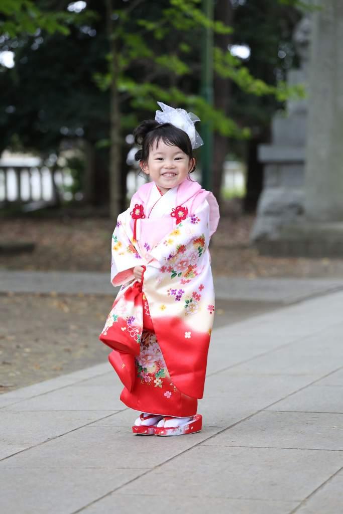 立川諏訪神社七五三女の子