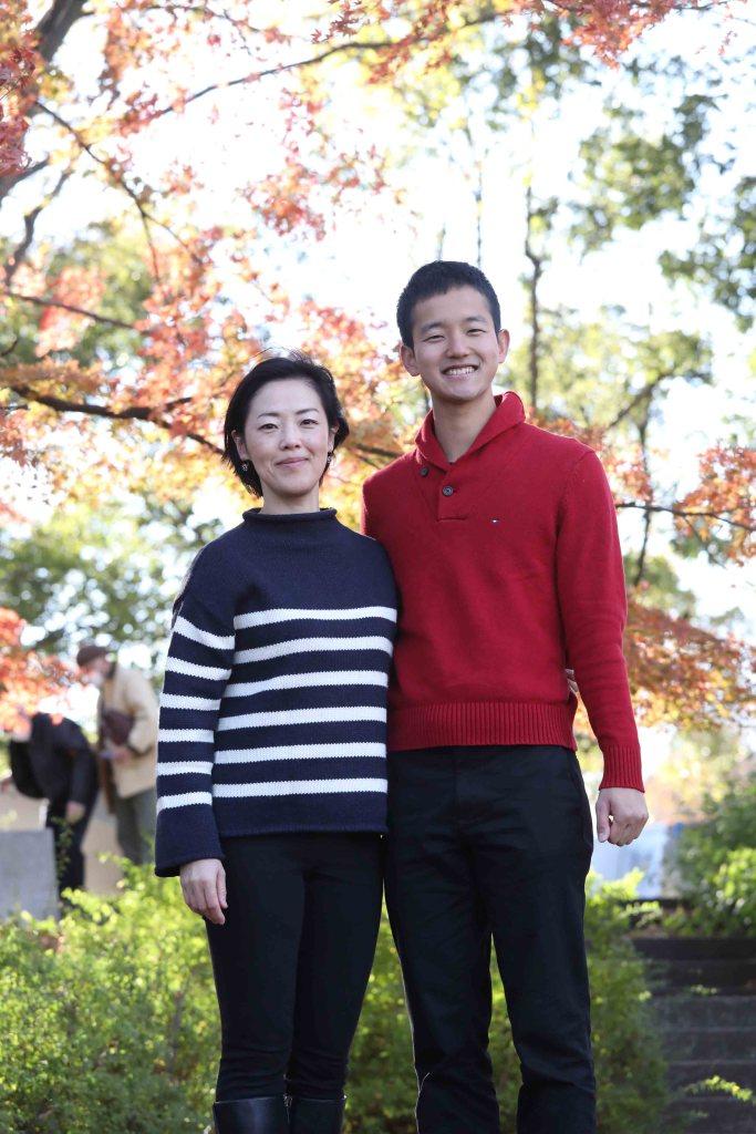 昭和記念公園成人お祝い家族写真