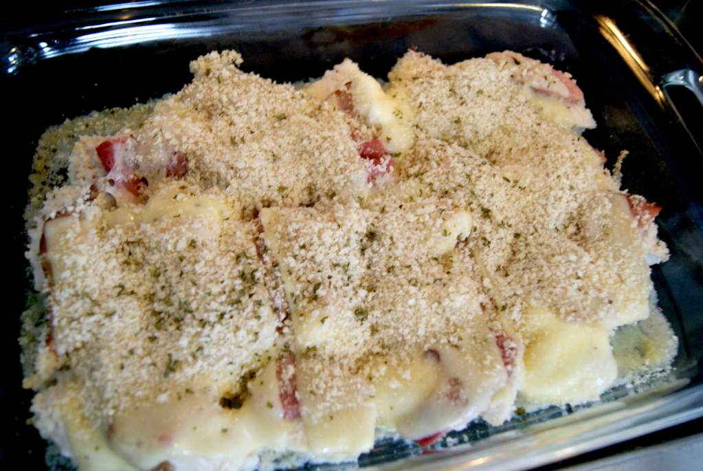 Inside Out Chicken Cordon Bleu Casserole