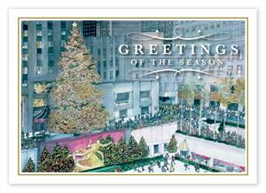 HP14320 Festive in New York Christmas Cards 7 7/8 x 5 5/8