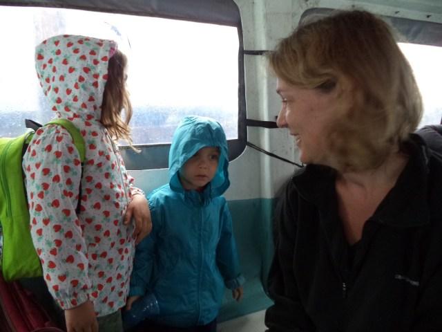 Leaving Lake Atitlan - in the rain!