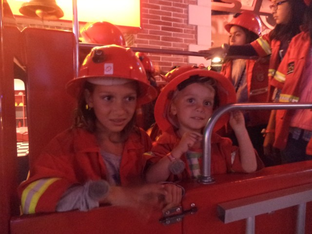 Whizzing around in a fire engine - great fun!