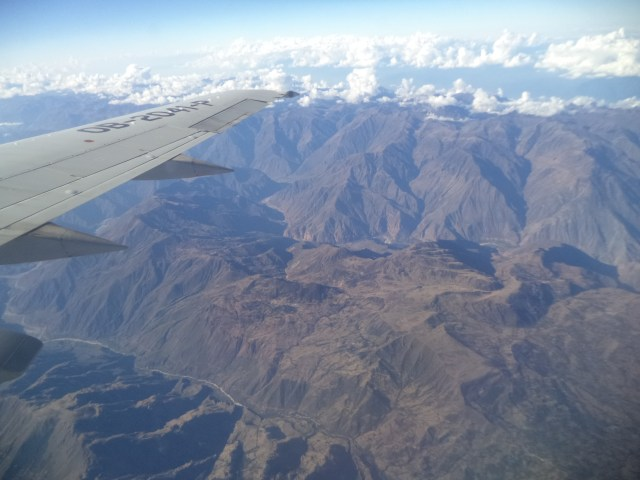 Amazing views on the flight from Lima to Cusco