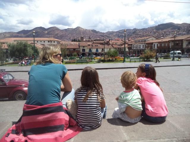 Pretty views from the Plaza de las Armas in Cusco, Peru