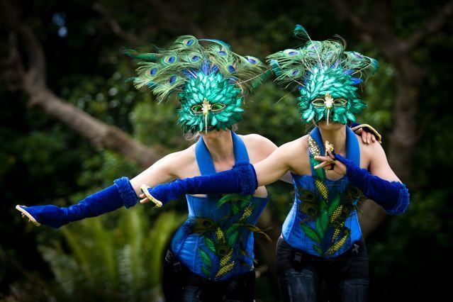 The Peacock Ladies- Stilt walking dancers
