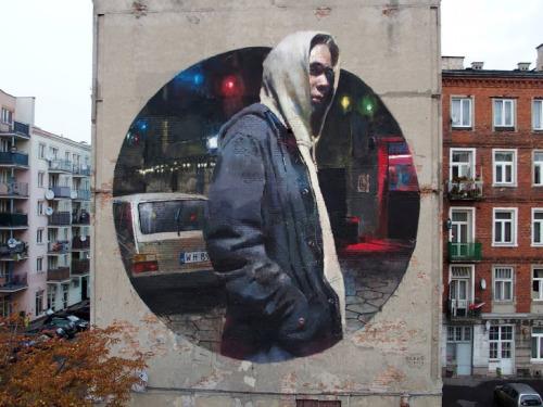 """widewalls-artmagazine:   New work by Sebas Velasco """"Warszawa Wschodnia"""" in Warsaw, Poland http://www.widewalls.ch/artist/sebas-velasco/"""
