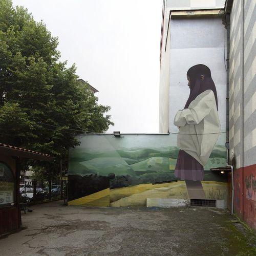 streetartglobal:  Always lovely, more beautiful work by @artez_online and @nikola_mihajlovic_art 'Early white'http://globalstreetart.com/artezonline#globalstreetart #artezonline #nikolamihajlovicart #mural #wallart #streetarteverywhere #serbia https://www.instagram.com/p/BLMMRvVD70H/