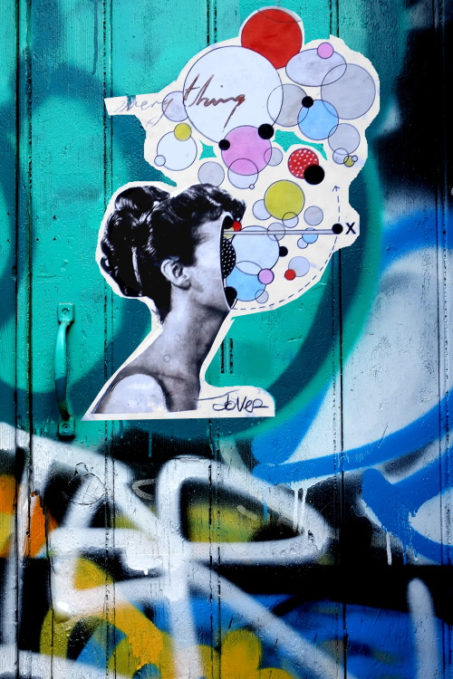 louijover:  street paste up…everything is a universe