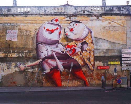 streetartglobal:  Nice work by @zed1_marco in #Portugal#globalstreetart #mural #characterhttp://www.globalstreetart.com/zed1 https://www.instagram.com/p/BI3VI5FDUpE/