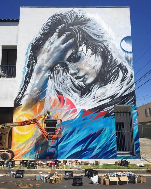 impermanent-art:  Enjoyed watching @starfightera in action today in Mar Vista. Thanks for the invite @kungfubreakfast.___________________________________#angelinachristina #starfightera #mural #art #laart #urbanart #publicart #streetart #streetartla #streetartlosangeles #losangelesstreetart #lastreetart #marvista #losangeles #impermanentart (at Siam Chan)