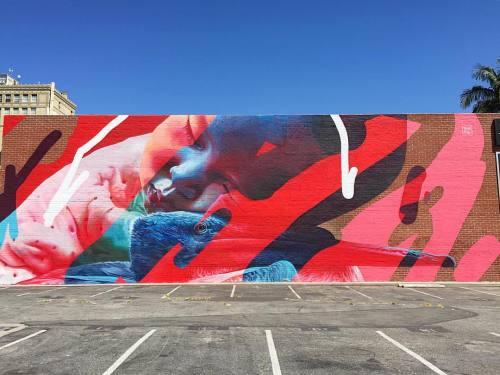 impermanent-art:  @telmomiel for @powwowlongbeach. ______________________________#telmomiel #powwow #powwowlongbeach #powwowworldwide #mural #art #urbanart #publicart #streetart #longbeachstreetart #longbeach #impermanentart (at The Promenade Downtown Long Beach)